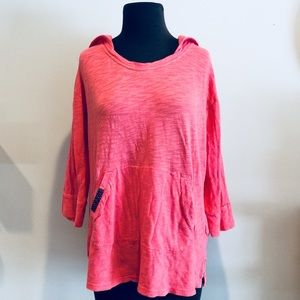 ❗️Anthropologie Coral Hooded Pullover MSRP $78!